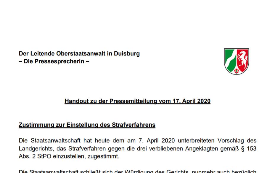 Loveparade Urteil Pressemitteilung