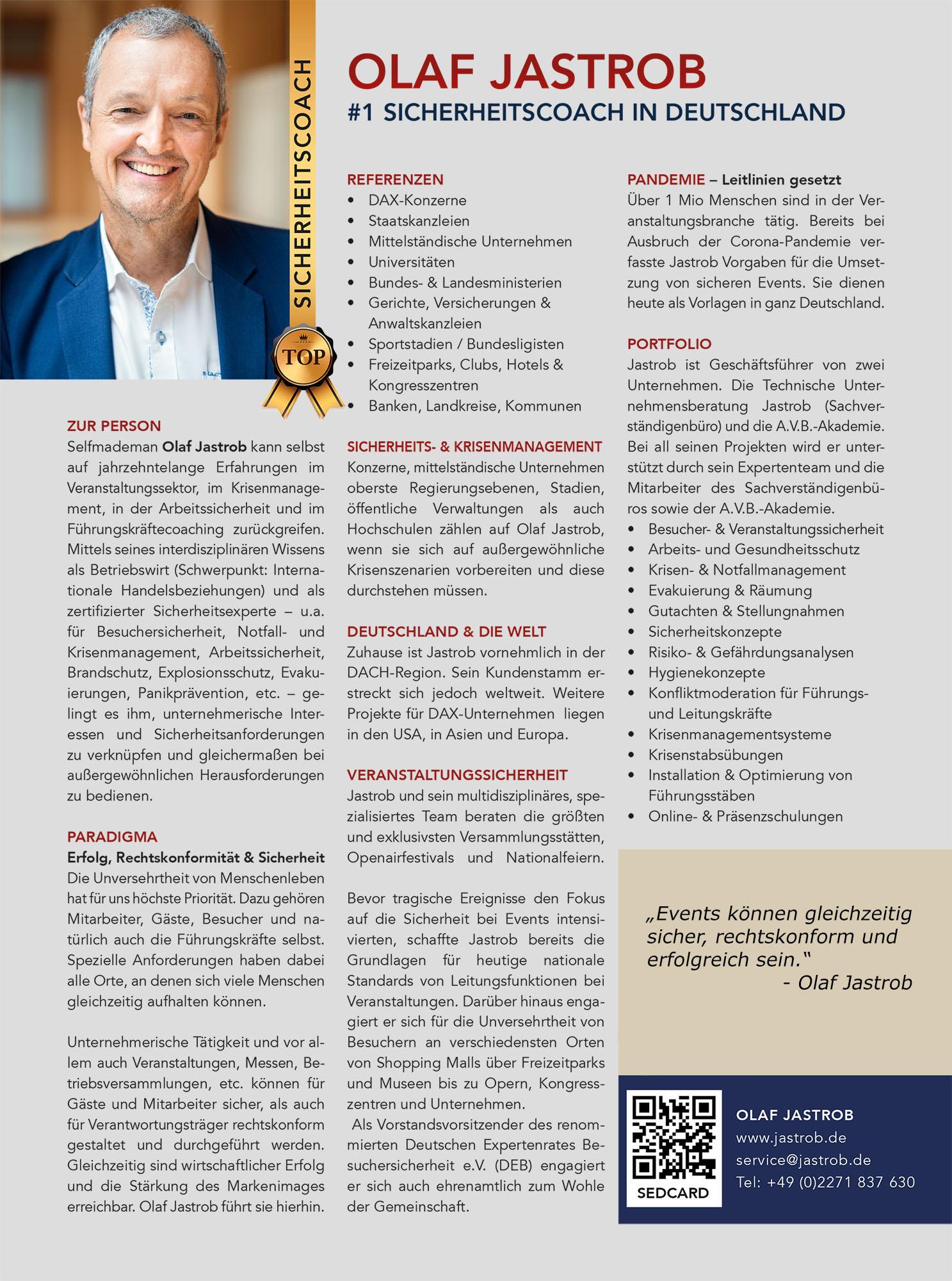 TOP COACH im Manager Magazin: Olaf Jastrob